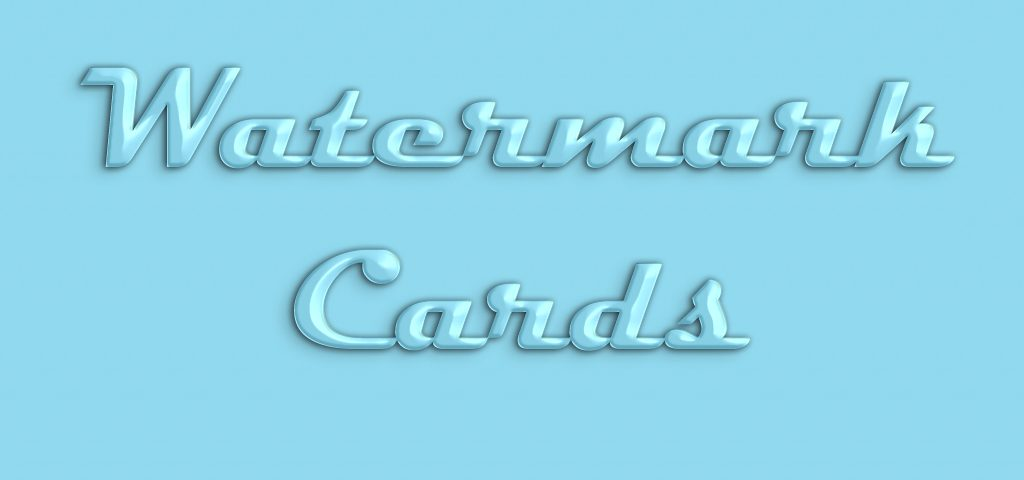 Watermark Cards - Star Gifts